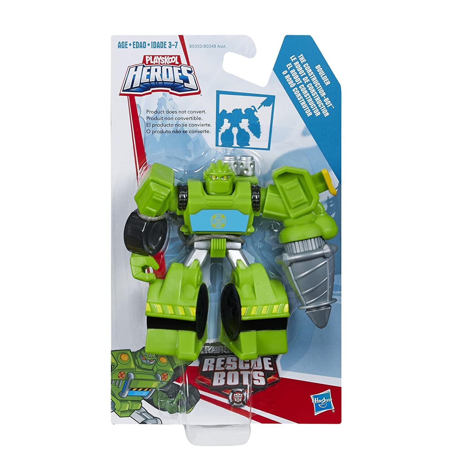 Playskool Heroes Transformers Rescue Bots Boulder the Construction-Bot Figure by Playskool: Amazon.es: Juguetes y juegos