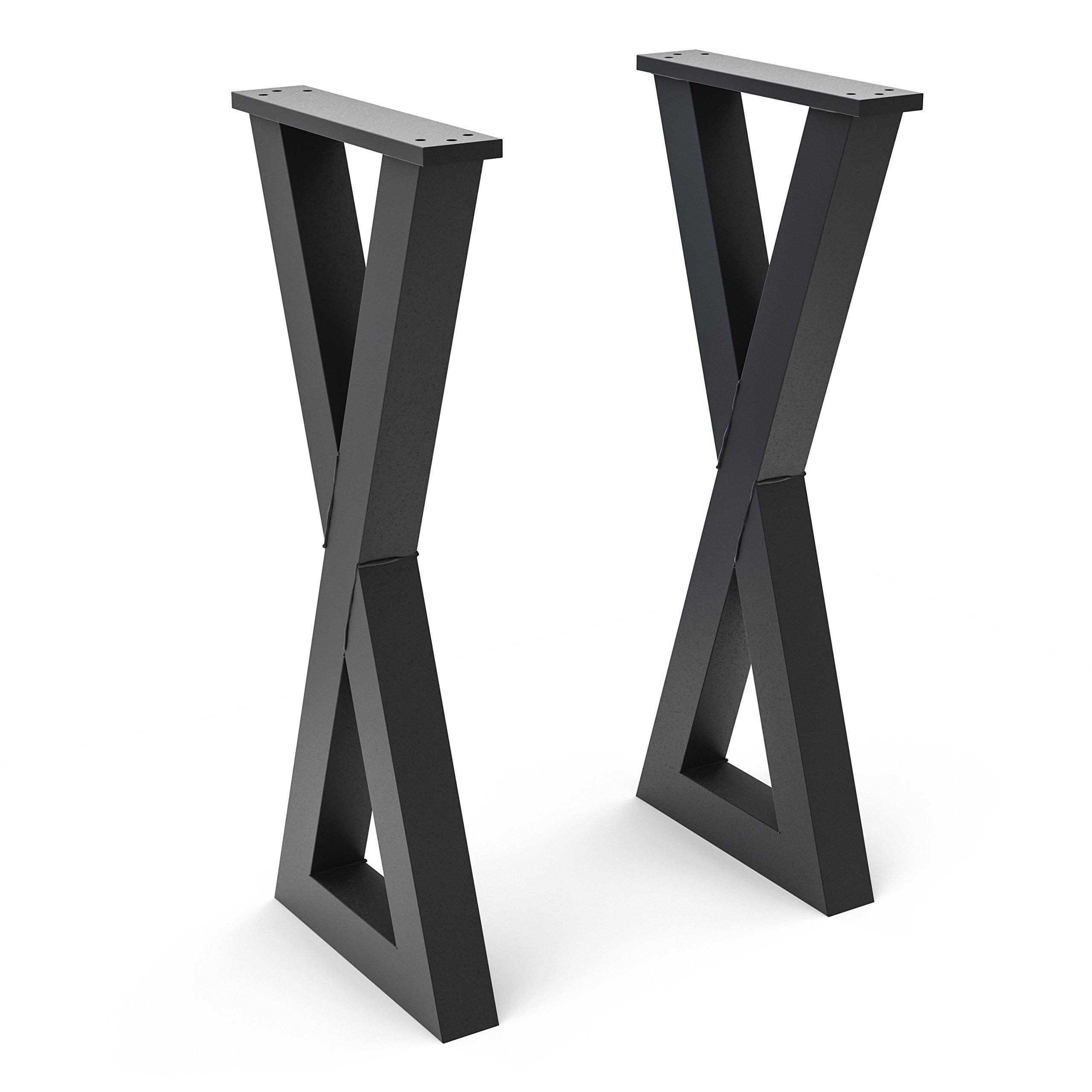 Steel Forged DIY Metal X Console Legs