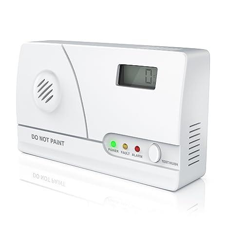 brandson – Detector de monóxido de carbono (Co Detector de alarma, detector de