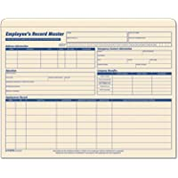 TOPS 3280 Employee Record Master File Jacket, 9 1/2 x 11 3/4, 10 Point Manila (Pack of 20)
