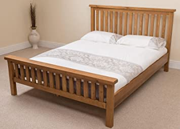 Amazon De Farmhouse Eiche Rustikal 4 Ft6 Doppelbett Bett Rahmen