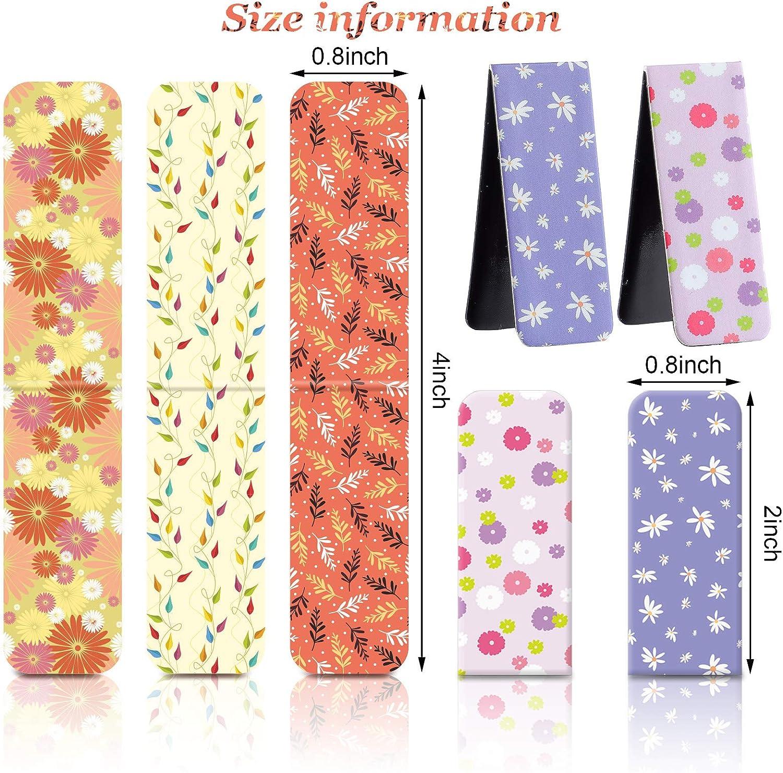 Magnetic floral bookmarks planner