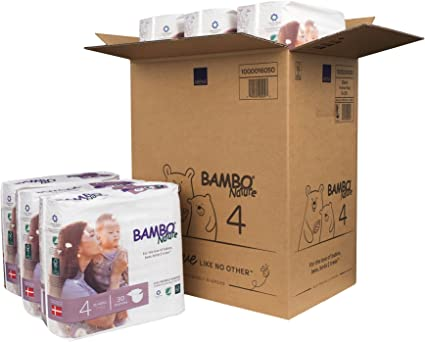15-.. Size 4 Bambo Nature Eco Friendly Baby Diapers Classic for Sensitive Skin