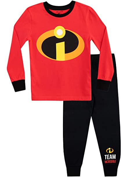 Disney Pijamas de Manga Larga para niños The Incredibles Ajuste Ceñido: Amazon.es: Ropa y accesorios