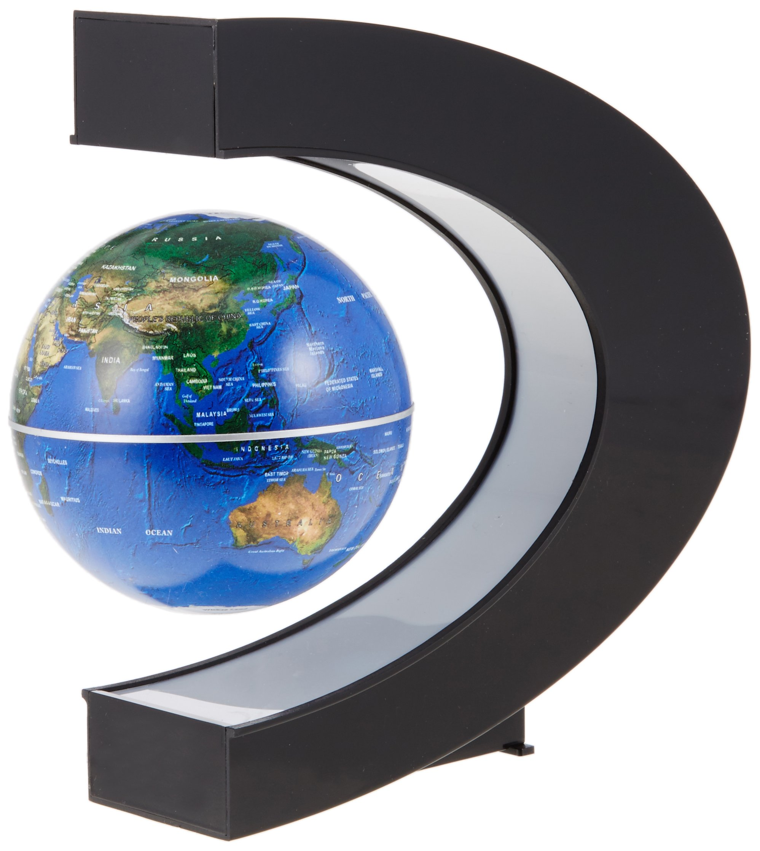 MagicFloater FU100 MOVA Globe Motion within: High-Tech Globus der Spitzenklasse. Permanent geräuschlos rotierender Globus. Energiezufuhr mittels Keine Batterie, keine Stromversorgung!