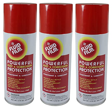 Fluid Film TPAS11 Powerful Rust & Corrosion Protection, Penetrant and  Lubricant for Corrosion Control, Penetration, Metal Wetting and Water