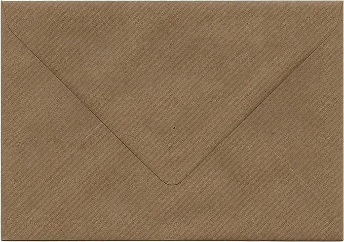 Buste C6 Fleck inviti a matrimonio lettere Brown per biglietti formato A6 100 gsm