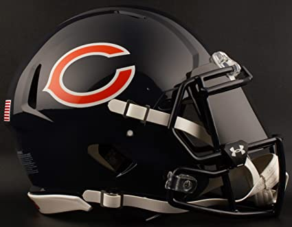 c59f23058 Image Unavailable. Image not available for. Color  Riddell Chicago Bears NFL  Football Helmet with Dark-Tint Black Visor Eye Shield