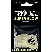 Ernie Ball Super Glow Púas para guitarra, 12 unidades, Medium