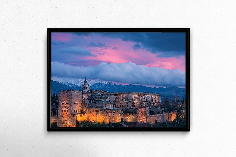 Cuadro Alhambra | Impresionante cuadro ciudad de Granada| Medidas ...