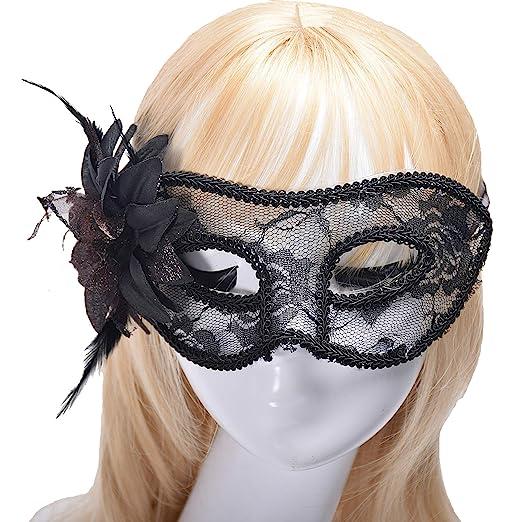 4e372ac61ac2 Runlong Masquerade Mask for Girls Women, Halloween Carnival Fancy Dress  Costume Dancing Party Cosplay Eye