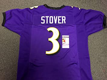 35f277057 Image Unavailable. Image not available for. Color: MATT STOVER PURPLE  Autographed BALTIMORE RAVENS CUSTOM SIGNED JERSEY ...