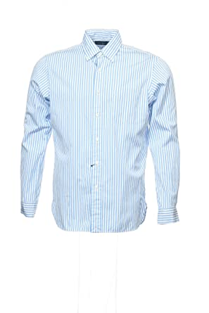 854ffe6ffd0c RALPH LAUREN Polo by Light Blue Vertical Striped Button Down Shirt Sport