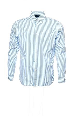 ce66a6476 RALPH LAUREN Polo by Light Blue Vertical Striped Button Down Shirt Sport,  Size Medium