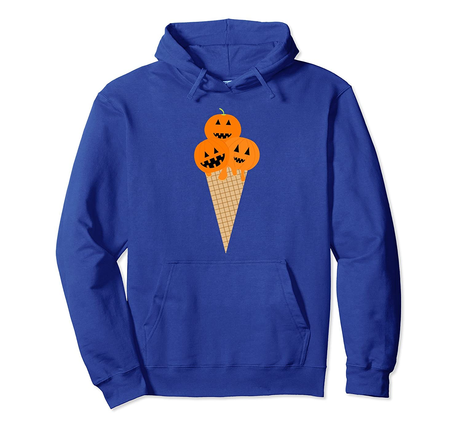 Funny Halloween Shirts - Yummy Pumpkin Ice Cream Tee Hoodie-mt