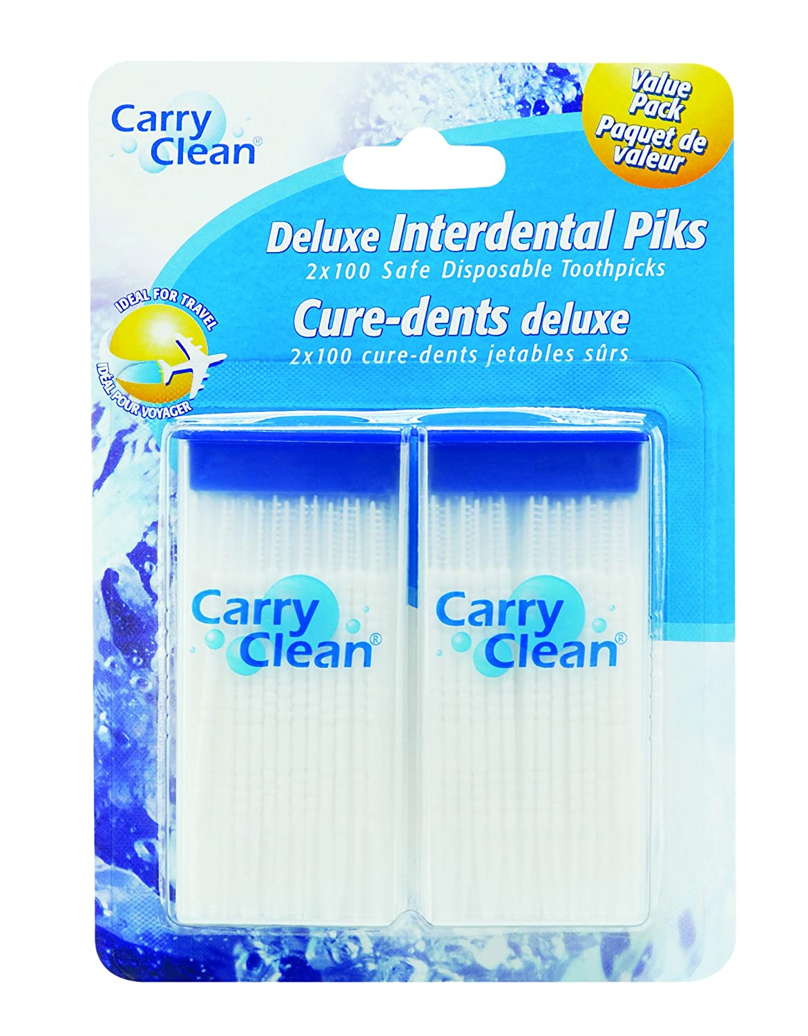 Carry Clean deluxe interdental piks, 200 Count ca health and personal care ALVDV