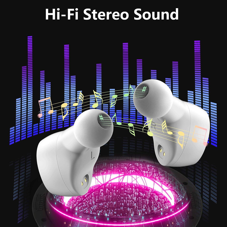 Laufen Sport-Headset mit Ladetasche f/ür Training Elecder D10 Bluetooth Kopfh/örer In Ear Ohrh/örer Bluetooth 5.0 Drahtloser Kopfh/örer mit Mikrofon Schwarz