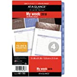 """AT-A-GLANCE Day Runner Weekly / Monthly Refill, January 2018 - December 2018, 5-1/2"""" x 8-1/2"""", 3-in-1, Loose Leaf, Size 4, Wedgewood (481-785)"""