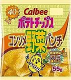 カルビー ポテトチップス コンソメ野菜パンチ 55g×12袋