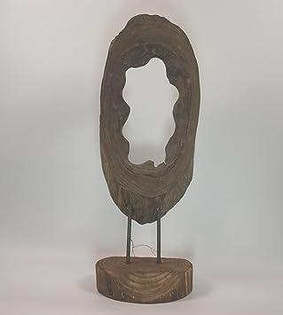Amazon.de: Formano Holz Skulptur auf Sockel Deko Objekte aus ...