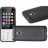 Jkobi 360* Protection Premium Dotted Designed Soft Rubberised Back Case Cover For Nokia 230 Dual Sim -Black