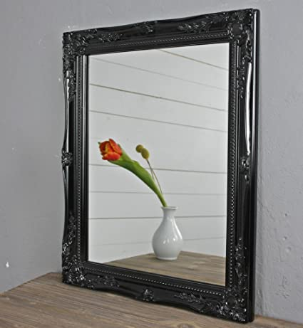 75332c83c8ee1 Black wall-mounted mirror shabby chic   baroque style ornate perfect for  hallways
