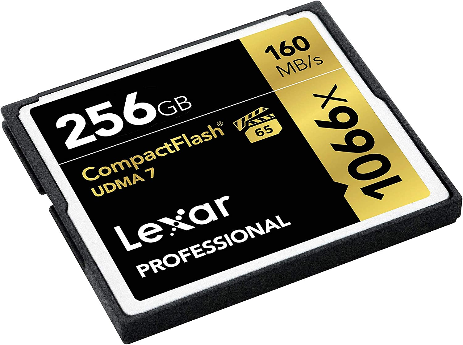 Lexar Professional 1066 x 256GB VPG-65 CompactFlash card (Up to 160MB/s Read) LCF256CRBNA1066