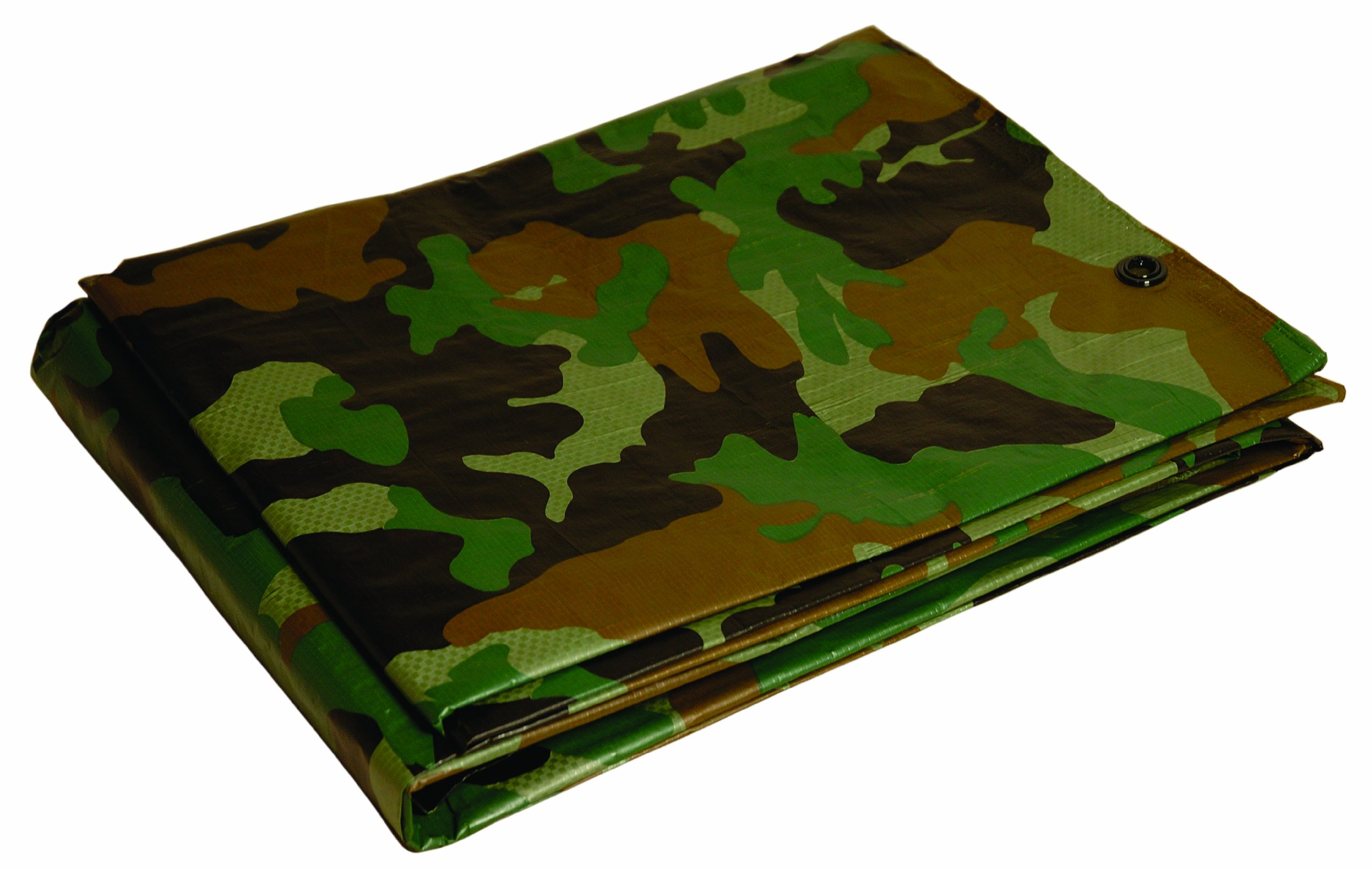 10x12 Multi-Purpose Camouflage Medium Duty DRY TOP Poly Tarp (10'x12') by DRY TOP