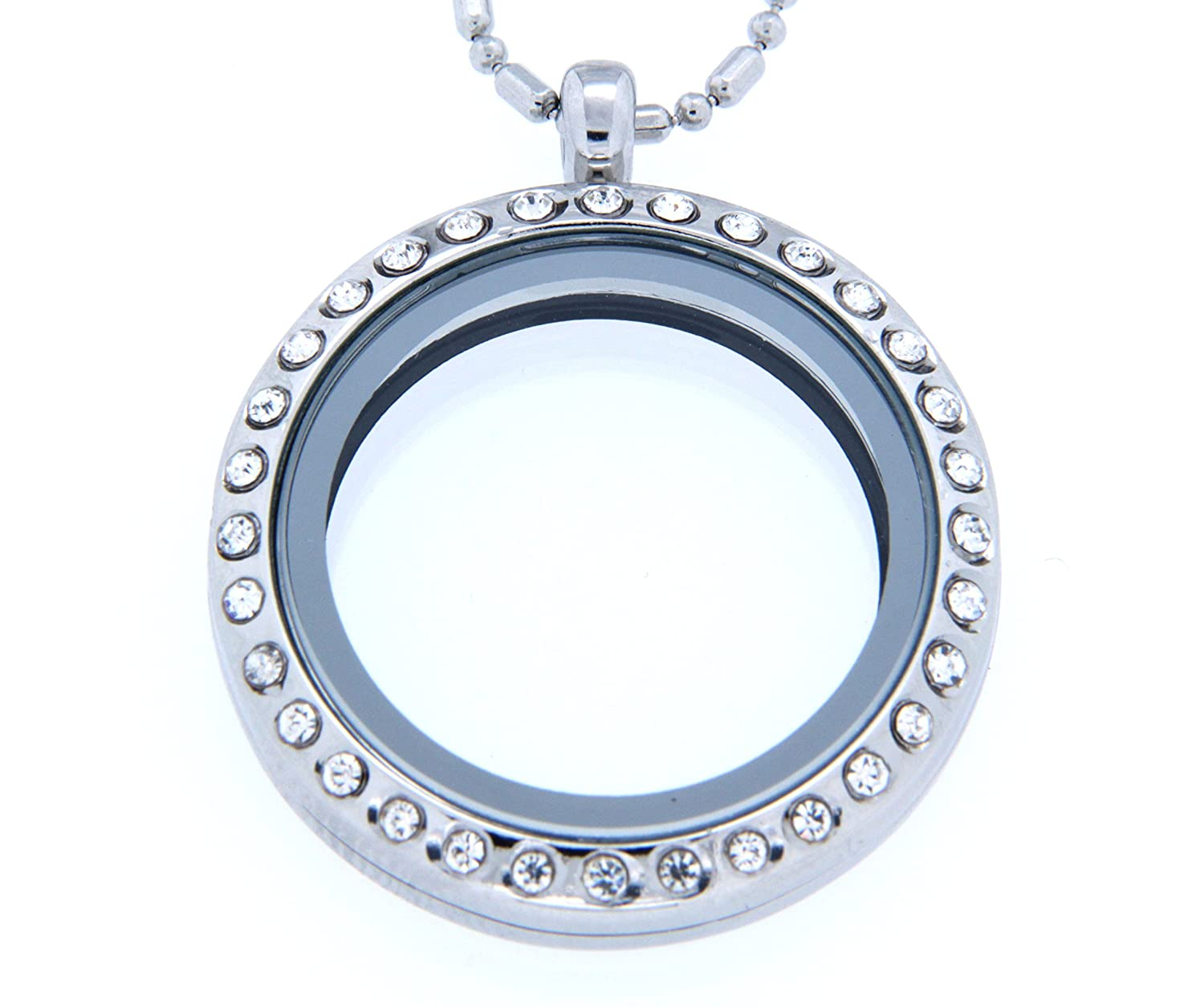 pandora floating crystal cz clear locket glass lockets en and sapphire