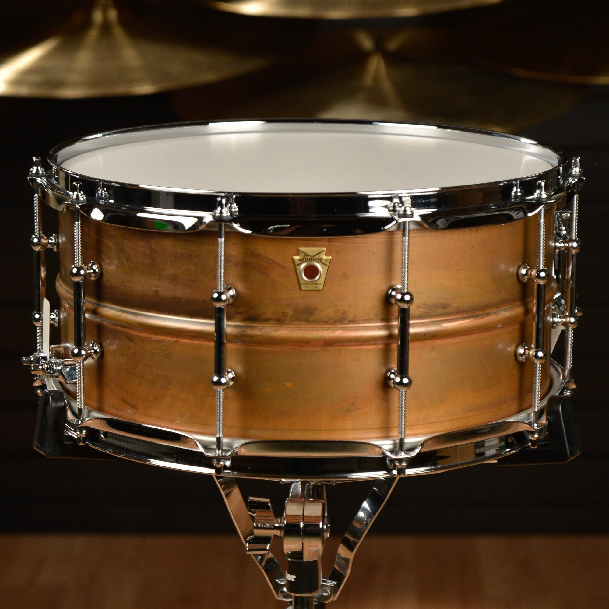 Ludwig Copper Phonic Smooth Snare Drum 14 x 6.5 in. Raw Smooth Finish with Tube Lugs
