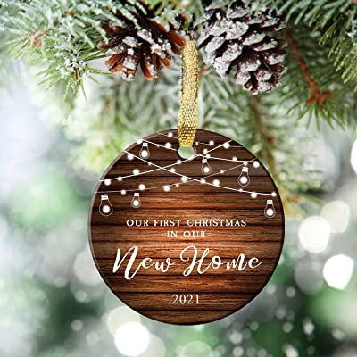 Our First Christmas 2021 Ornament Buy Nurionss Our First Christmas In Our New Home Ornaments 2021 Christmas Wedding Decoration Gift For New Home New Homeowner New Apartment 2 85 Ceramic Ornament New Home Online In Indonesia B08md11tgq