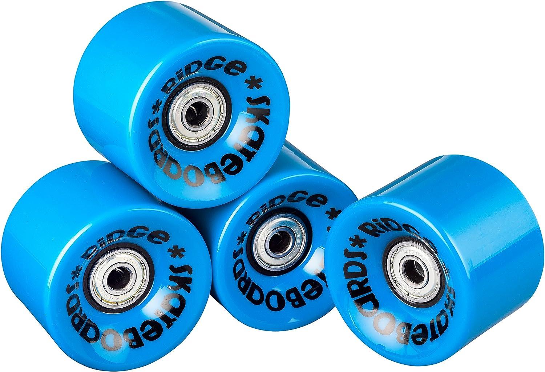 Set of 4 with Bearings Ridge Skateboards Cruiser Wheels 59mm 78a