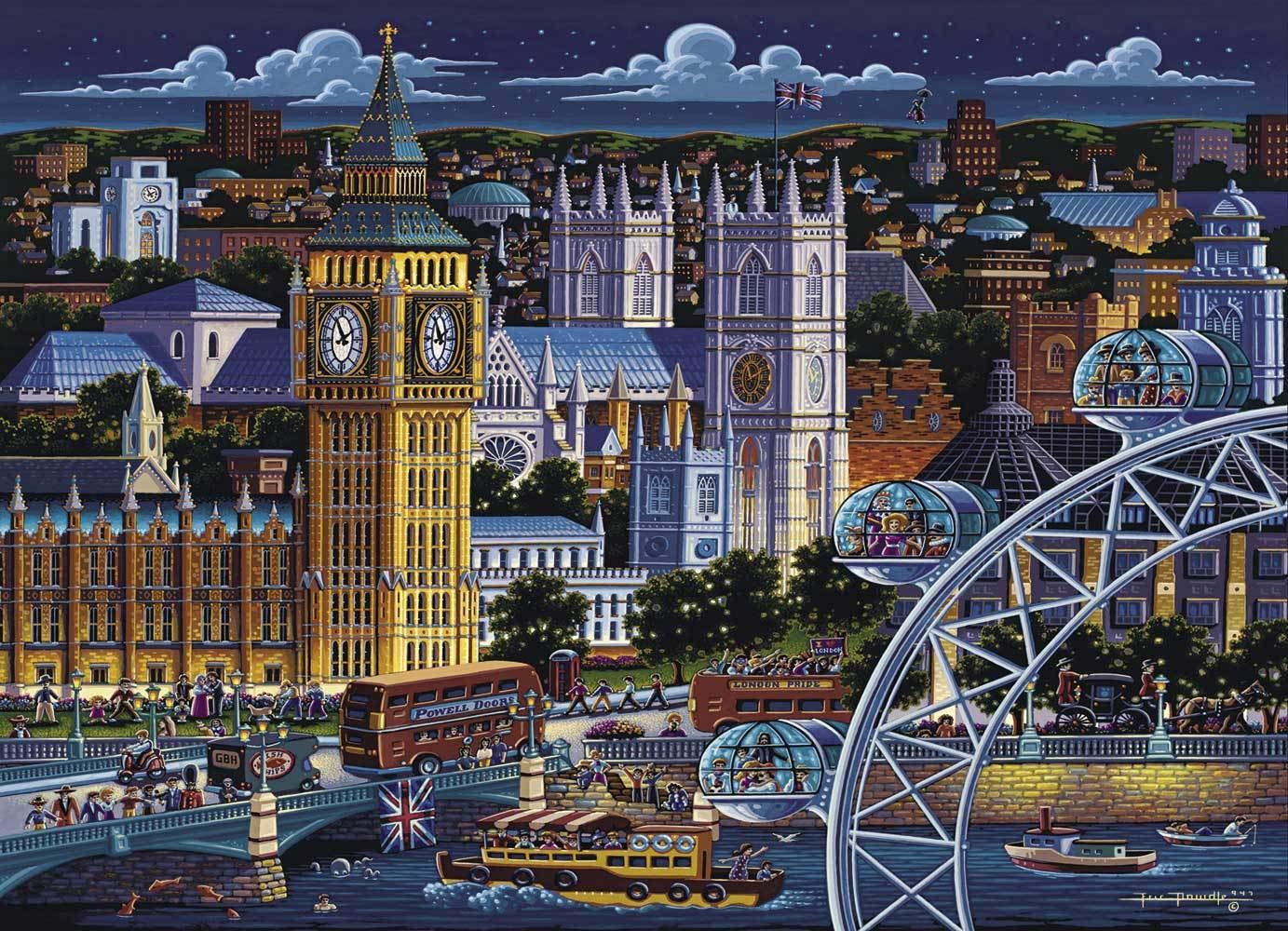 London 500 Piece Dowdle Folk Art Dowdle Jigsaw Puzzle