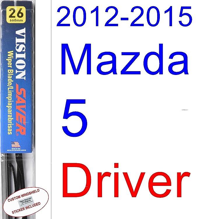Amazon.com: 2012-2015 Mazda 5 Wiper Blade (Rear) (Saver Automotive Products-Vision Saver) (2013,2014): Automotive