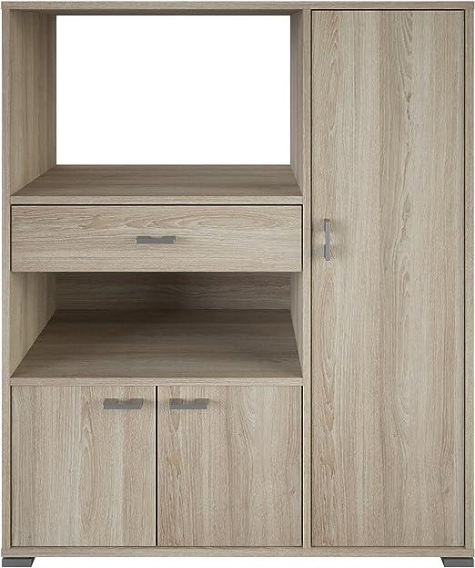 Mueble auxiliar para microondas con varios departamentos color ...