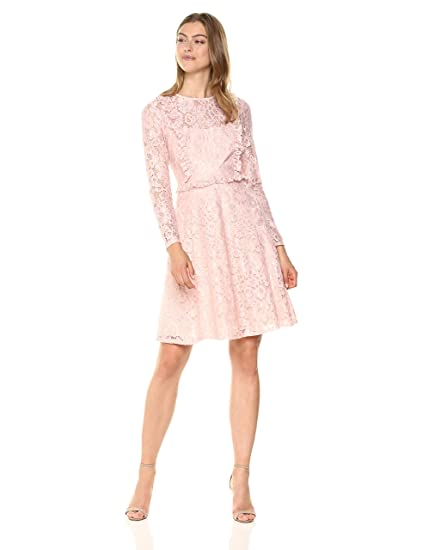 60ffc30332e Amazon.com: Wild Meadow Women's Victorian Inspired Lace Dress XL Blush:  Clothing