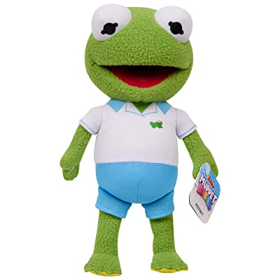 Muppet Babies Bean Plush - Kermit, 8 inches, Green, Model:14011: Toys & Games