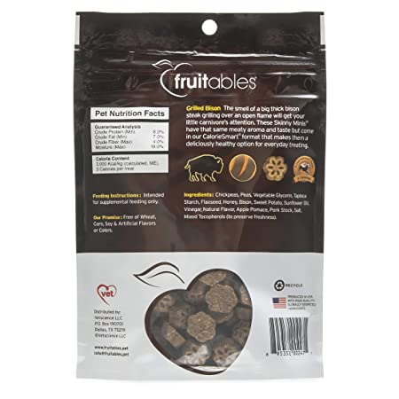 Fruitables Skinny Minis Bison Soft Chewy Dog Treats