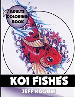 Adults Coloring Book Koi Fishes Best Books Volume 13