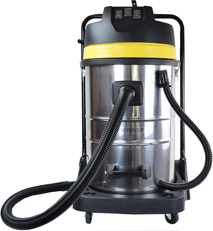 Syntrox Germany - Aspiradora Industrial (Acero Inoxidable, 3900 W, 100 L): Amazon.es: Hogar