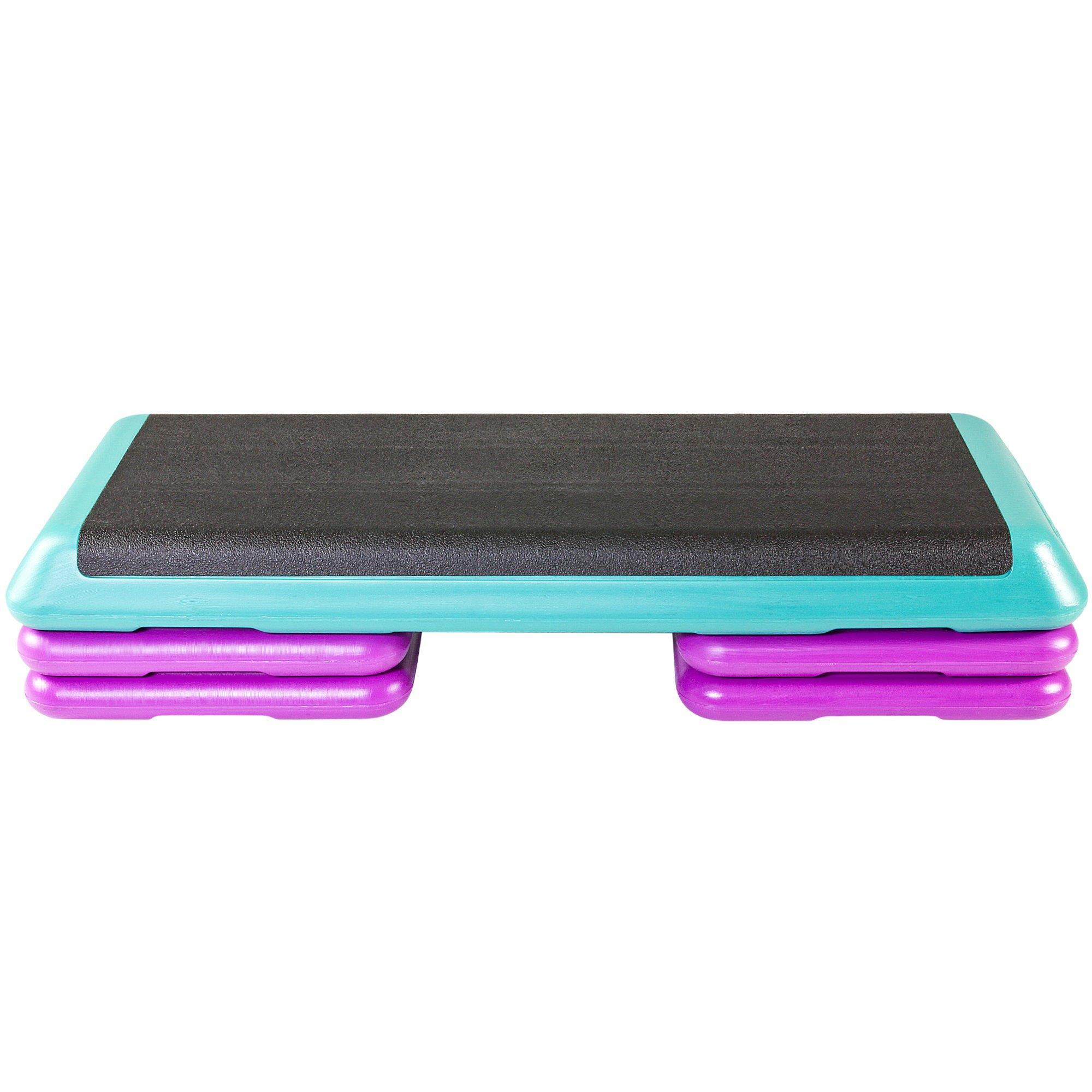 The Step Original Aerobic Platform – Health Club Size – With Four Original Risers by The Step