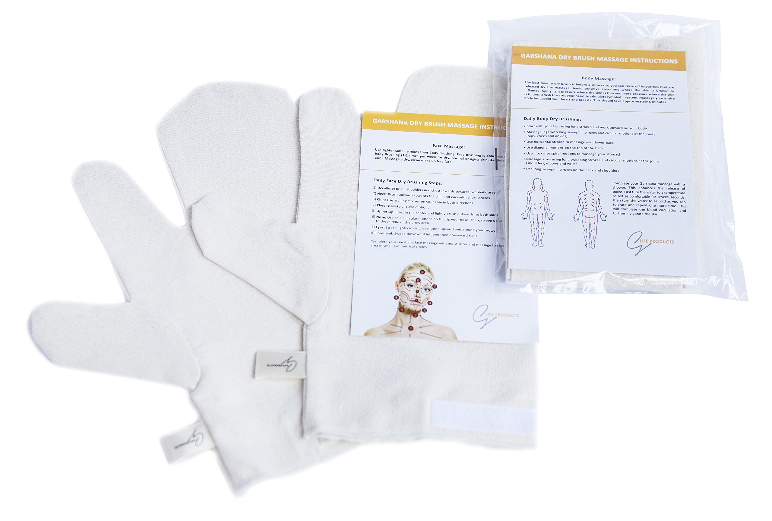 Amazon Garshana Massage Gloves Ayurvedic Massage Raw Silk Dry