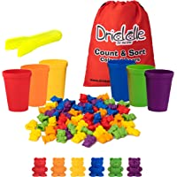 Driddle Colorful Counting Bears with Matching Cups - 60 Bears - Sort, Count & Color Recognition Learning Toy for Toddler…
