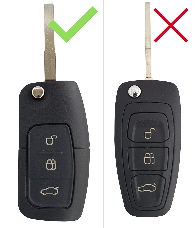FORD Auto de llave Carcasa ABS pl/ástico Keyless Cover Case Funda Silicona para Focus Kuga Mondeo Galaxy CK