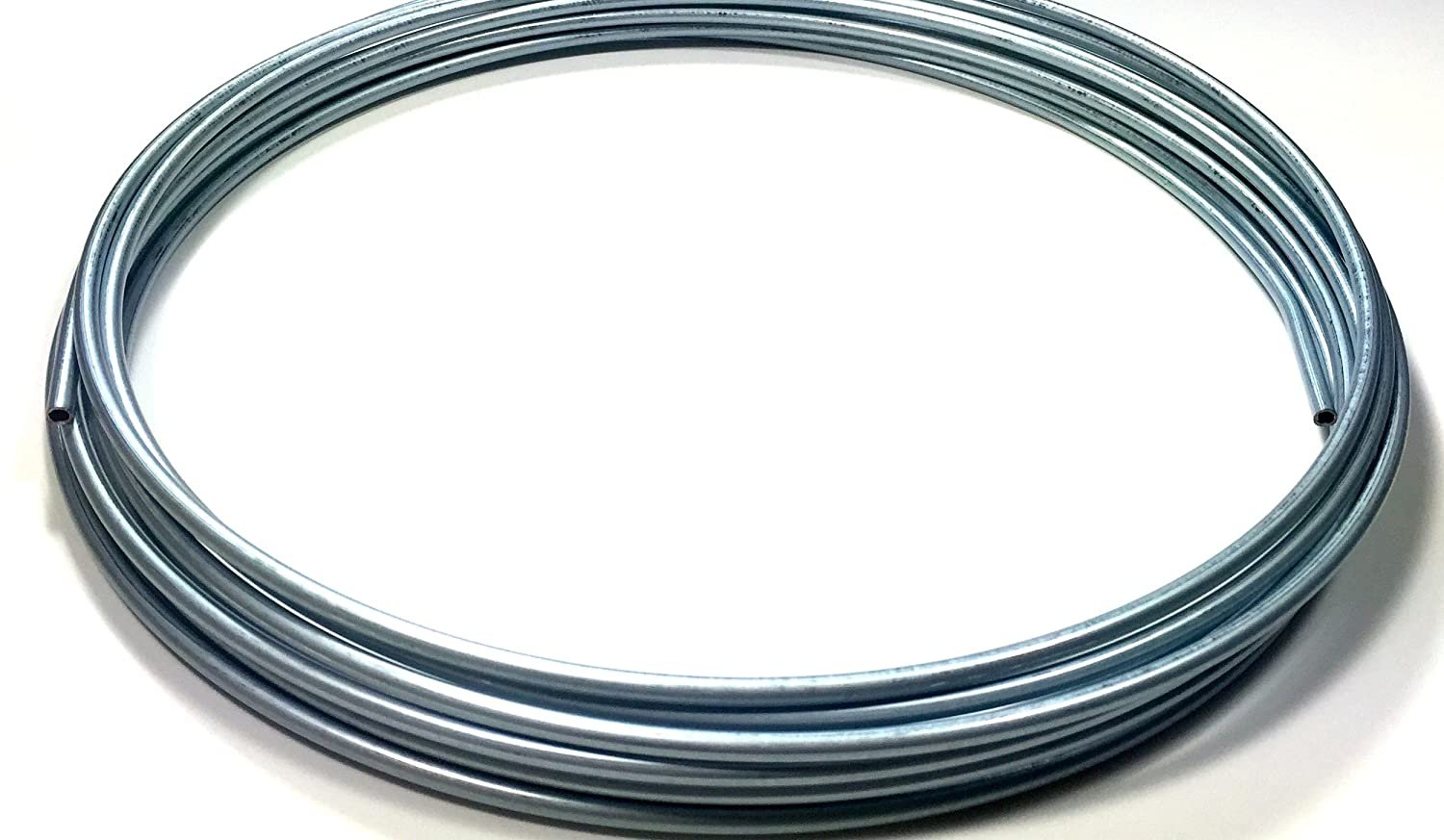 Roll of 25 ft. Zinc Plated 1/4' Brake or Fuel Line Tubing Coil The Stop Shop