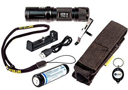 BUNDLE: Nitecore EC21 CREE XP-G2 (R5) LED 460 Lumen plus red