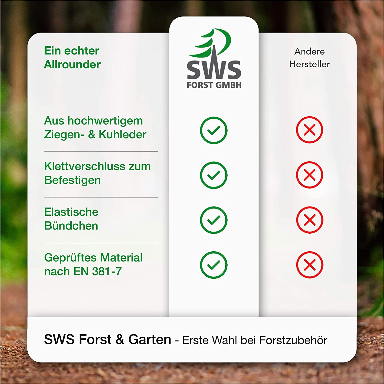 SWS Forst beidseitiger Schnittschutzhandschuh Forsthandschuh Klasse 0 Gr S-XL