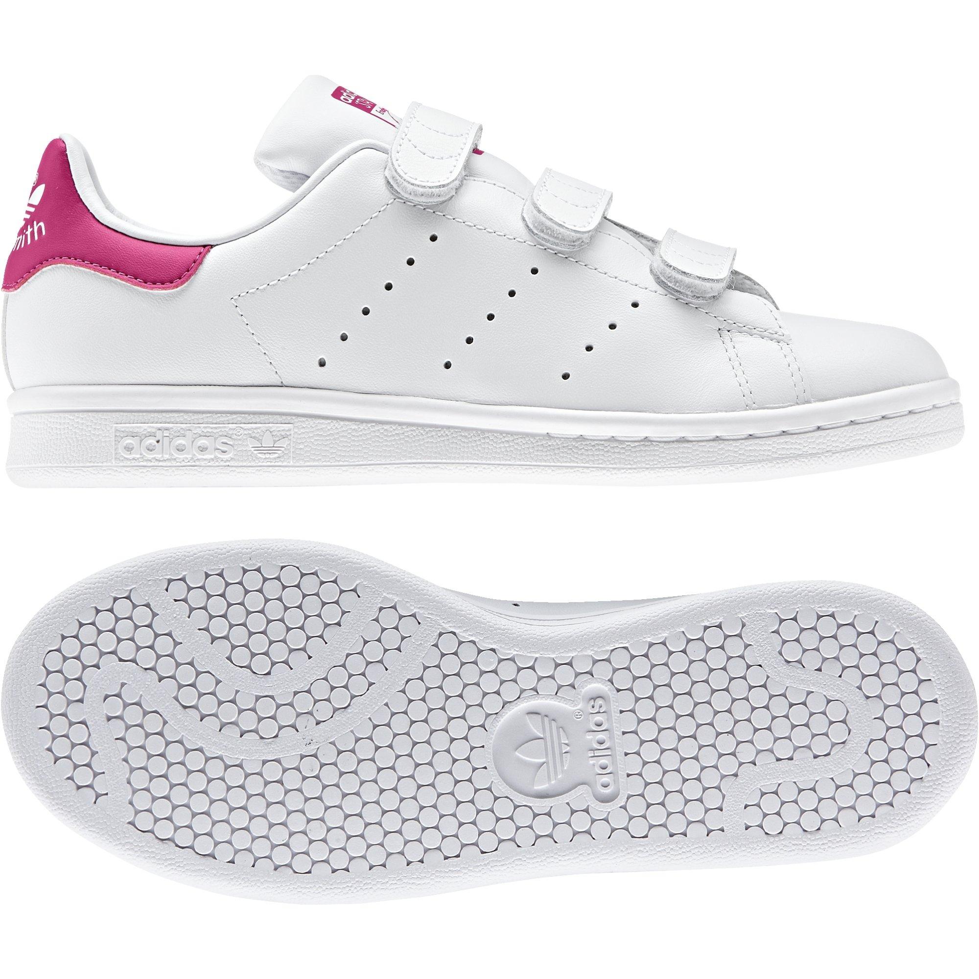 1234ef4eec29 Galleon - Adidas Originals Girls  Stan Smith CF J Running Shoe ...