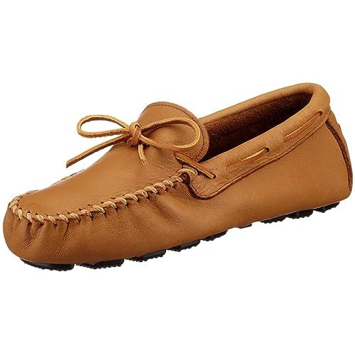 Minnetonka - Mocasines de Cuero para Hombre, Color Beige, Talla 44: Amazon.es: Zapatos y complementos