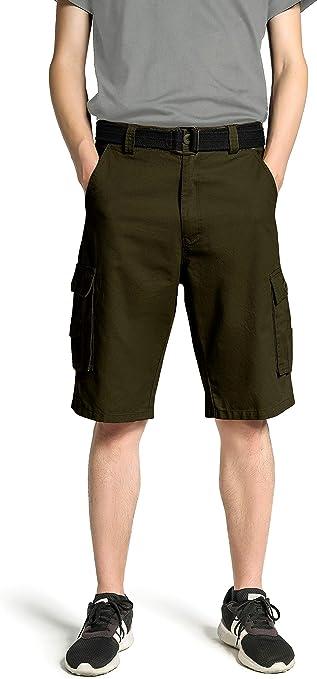 TALLA 48. Wantdo Pantalones Cortos de Cargo Bermuda para Hombres